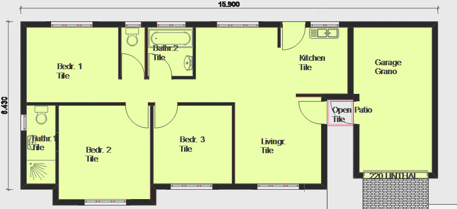 House Plans Free 8x20 free house plans House Plan Pl0002 Floorplan