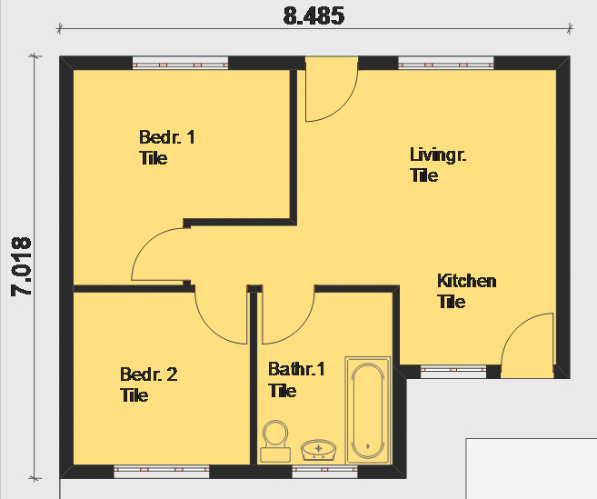 House Plans Free free architectural House Plan Pl0002 Floorplan