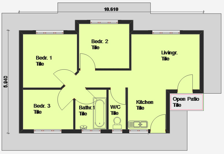 3 Bedroom House Floor Plan 3 bedroom apartmenthouse plans House Plans Building Plans And Free House Plans Floor Plans From