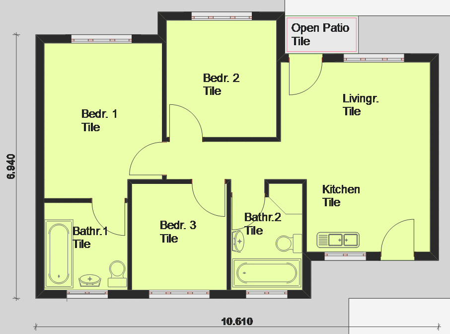 House Plan Pl0002, Floorplan