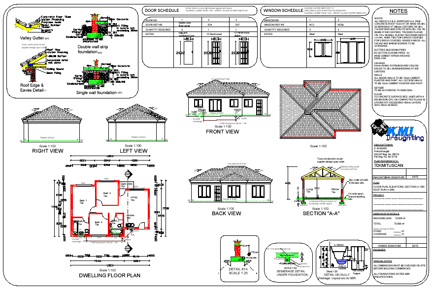 House plans  building plans and   house plans  floor plans from    flat roof house plan