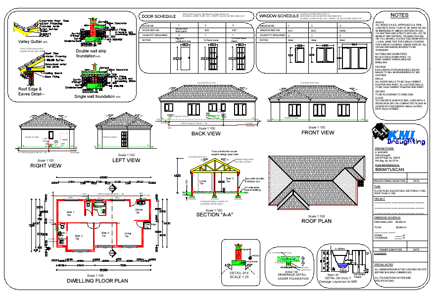 autocad house plans pdf free download - Draw House Plans