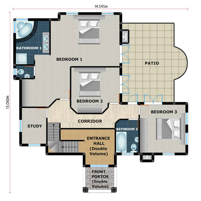 House plans building plans and free house plans floor for Four bedroom maisonette plans