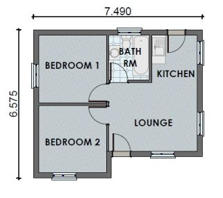 2 Bedroom 1 Bathroom H0013
