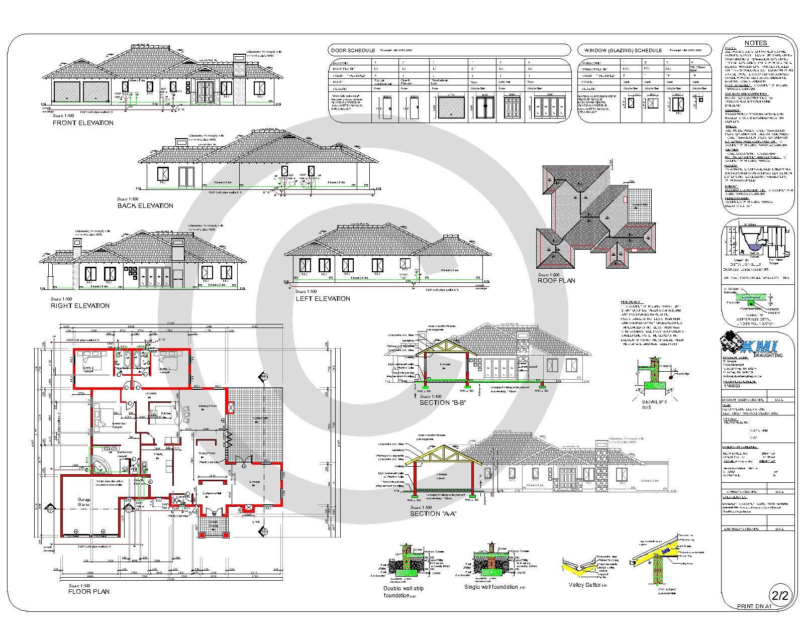 3 bedroom 4 bathroom kmi0028 kmi houseplans for Best house designs pdf