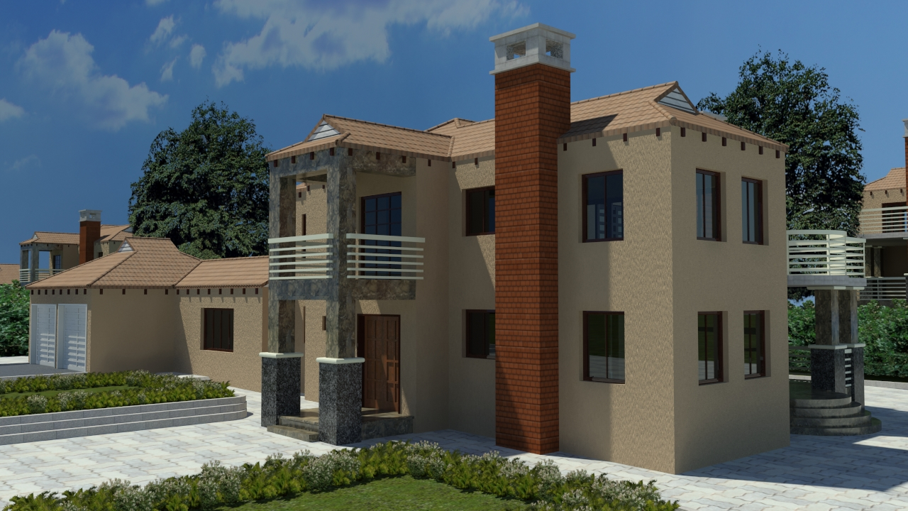 3 bedroom 4 bathroom pl0025b kmi houseplans for Sa house plans gallery