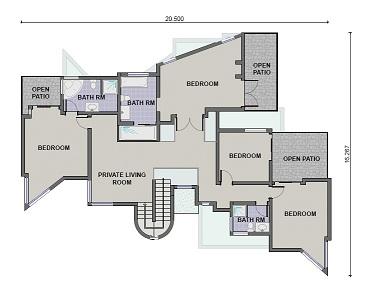 5 Bedroom / 4 Bathroom (PL0029TH) - KMI Houseplans